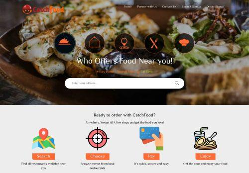 لقطة شاشة لموقع كاتش فود لطلب الطعام اون لاين بتاريخ 08/04/2021 بواسطة دليل مواقع سكوزمى