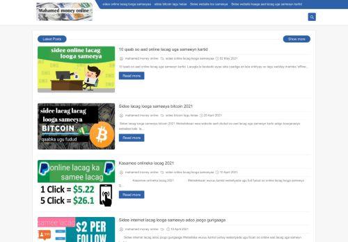 لقطة شاشة لموقع mahamed money online بتاريخ 03/05/2021 بواسطة دليل مواقع سكوزمى