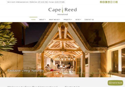 لقطة شاشة لموقع Cape Reed International بتاريخ 05/05/2021 بواسطة دليل مواقع سكوزمى