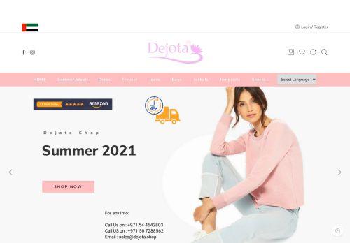 لقطة شاشة لموقع ديجوتا لتجارة الملابس الجاهزة بتاريخ 05/05/2021 بواسطة دليل مواقع سكوزمى