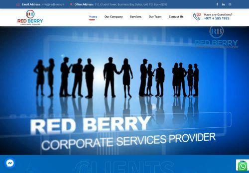 لقطة شاشة لموقع Red Berry Corporate Services بتاريخ 28/07/2021 بواسطة دليل مواقع سكوزمى