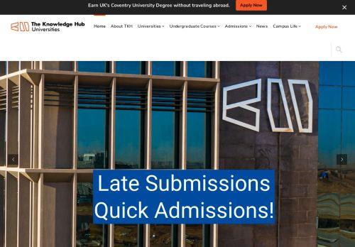 لقطة شاشة لموقع The Knowledge Hub Universities بتاريخ 09/09/2021 بواسطة دليل مواقع سكوزمى