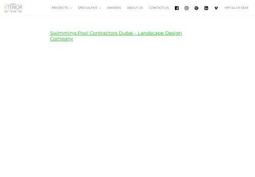 لقطة شاشة لموقع Swimming Pool Contractors Dubai بتاريخ 14/09/2021 بواسطة دليل مواقع سكوزمى