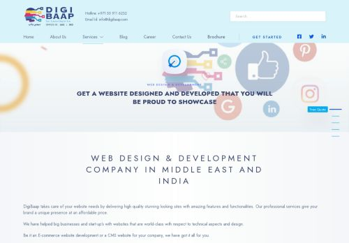 لقطة شاشة لموقع Web Development Company Dubai and Web Design Dubai-Digibaap بتاريخ 16/09/2021 بواسطة دليل مواقع سكوزمى