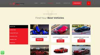 لقطة شاشة لموقع Rent a Sports Cars Dubai - Hire Cheap Sports Cars | Monaco Car Rental بتاريخ 27/03/2020 بواسطة دليل مواقع سكوزمى