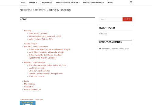 لقطة شاشة لموقع نيوباست للانترنت والبرمجيات بتاريخ 10/11/2020 بواسطة دليل مواقع سكوزمى