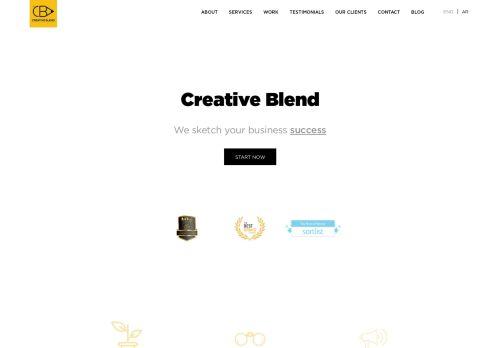 لقطة شاشة لموقع creative blend بتاريخ 15/11/2020 بواسطة دليل مواقع سكوزمى